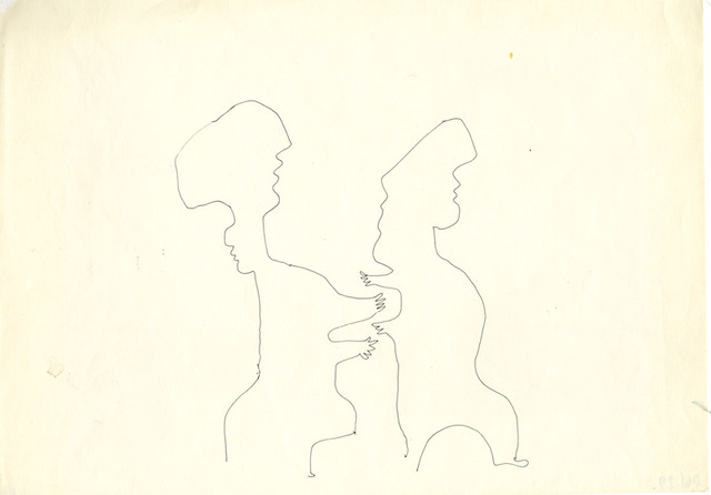 , '[Traces] Two Figures with Outstretched Arms,' , l'étrangère