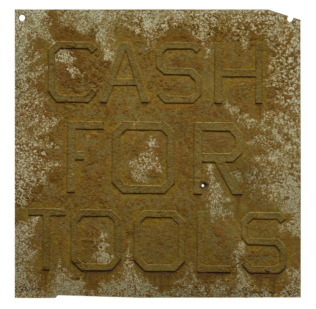 , 'Rusty Signs - Cash for Tools 2,' 2014, Mixografia