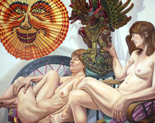 , 'Models with Lantern and Garuda Figure,' 2015, Betty Cuningham