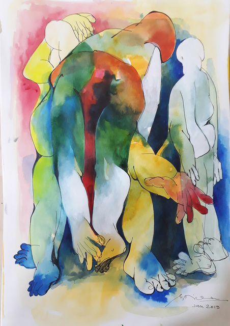 , 'The festival of colors,' 2019, The Art Cocoon