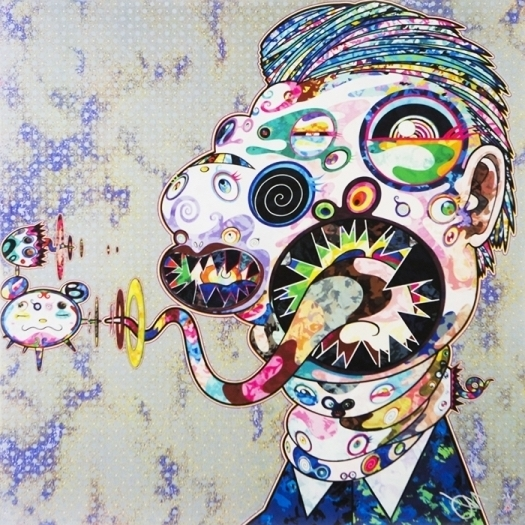 Takashi Murakami, 'Homage to Francis Bacon (Study for Head of Isabel Rawsthorne and George Dyer) Right ', 2016, Vogtle Contemporary
