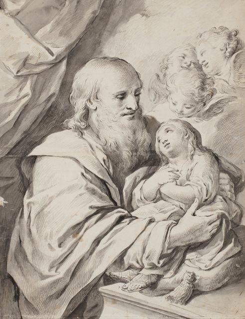 , 'San Joaquin with the Virgin as a child,' 1762-1798, Artur Ramon Art