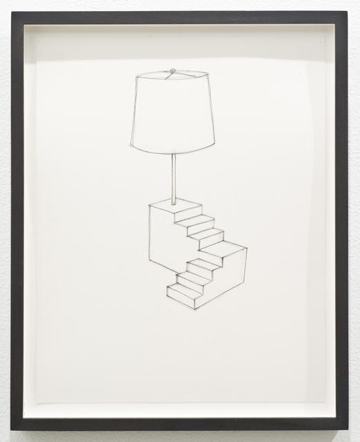 , 'Untitled (lamp/stair),' 2013, Lora Reynolds Gallery