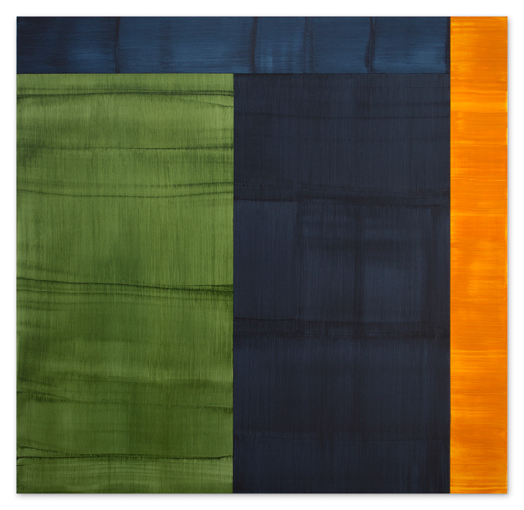 , 'Bhutan Abstraction with Green 1,' 2014, Sundaram Tagore Gallery