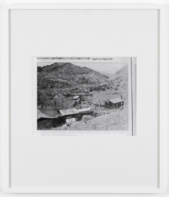 Joachim Koester, 'Untitled (Barker Ranch)', 2008, Photography, Set of two silver gelatin prints, Galleri Nicolai Wallner