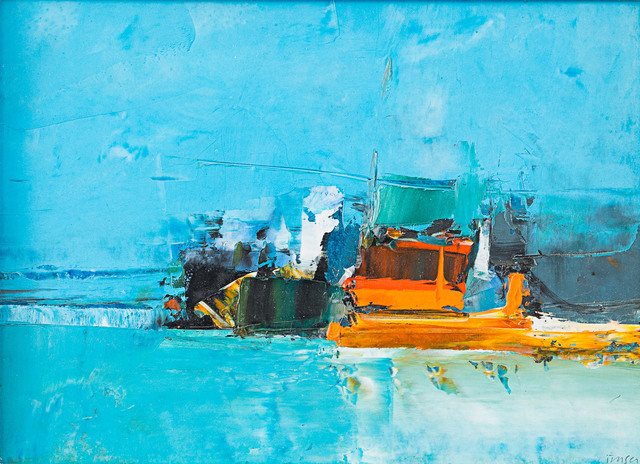 , 'Port - Orange and Blue,' 1966, Rosenberg & Co.