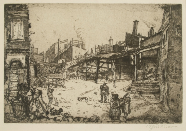Clifford Isaac Addams, 'Stables, Philadelphia', 1912, Print, Etching, Private Collection, NY