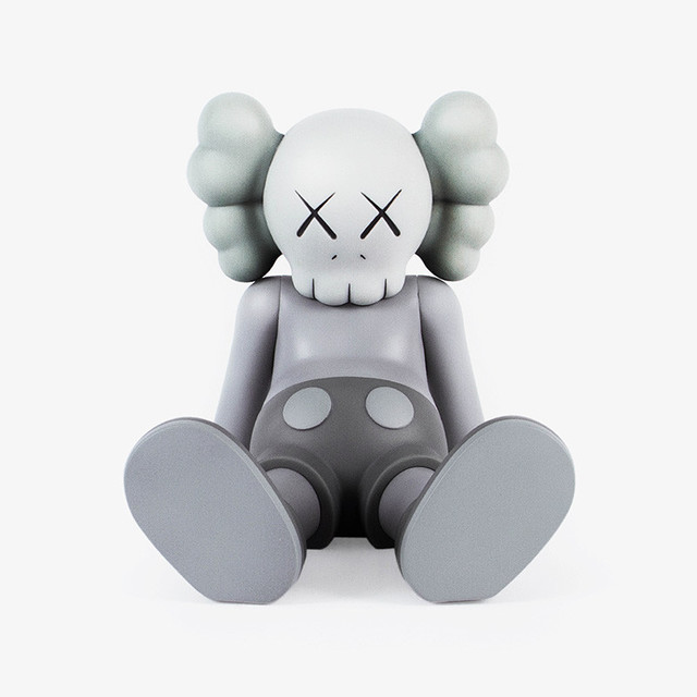 KAWS, 'KAWS Taipei Holiday Companion (KAWS Grey Companion)', 2019, Sculpture, Vinyl figurine, Lot 180