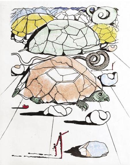 Salvador Dalí, 'La Mont tortue (The Turtle Mountain)', 1967, Puccio Fine Art