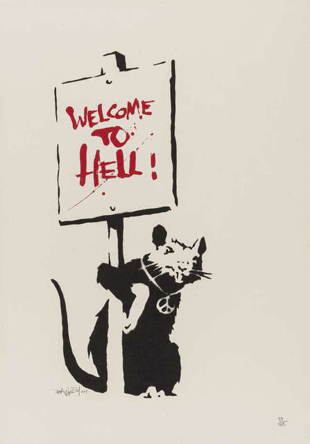 Banksy, 'Welcome To Hell (Unsigned)', 2004, Prescription Art