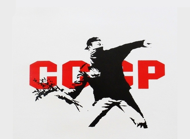 Banksy, 'CCCP (Flower Thrower)', 2003, Taglialatella Galleries