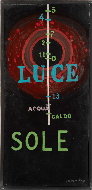 Gianni Bertini, 'Luce', 1948, Mixed Media, Oil and mixed media on wood, Il Ponte