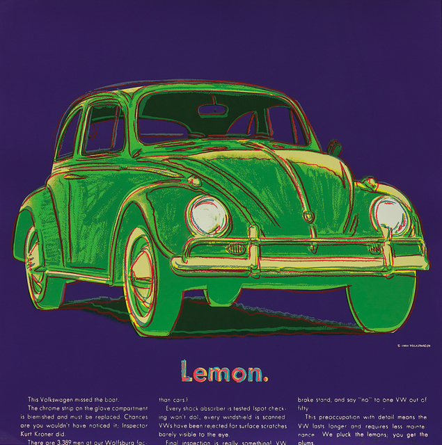 Andy Warhol, 'Volkswagen, from Ads', 1985, Phillips