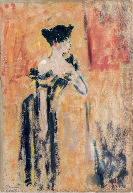 Louis Valtat, 'Brune à la robe noire et jaune', ca. 1895, BAILLY GALLERY