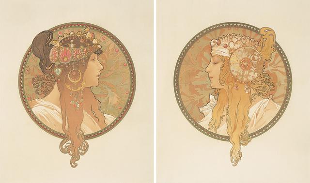 Alphonse Mucha, 'Byzantine Heads.', 1897, Rennert's Gallery