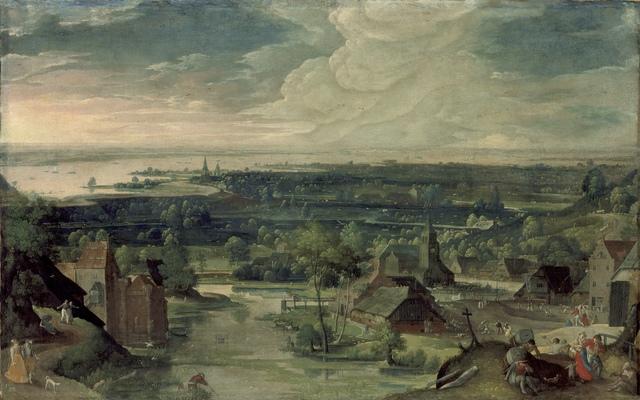 Hans Bol, 'River Landscape', 1578, Los Angeles County Museum of Art