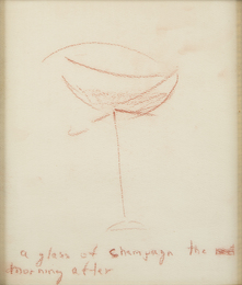 Marilyn Monroe, 'A glass of champagn [sic] the morning after,' c. 1960, Julien's Auctions: Marilyn Monroe