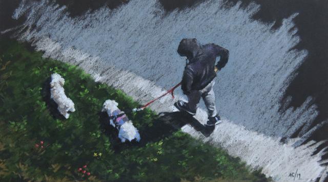 , 'Dog Walker,' 2019, Beatriz Esguerra Art