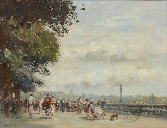 , 'Along the Seine, The Wide Terrace, Tuileries Garden,' , Portland Gallery