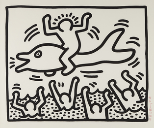 Keith Haring, 'Untitled (Man on Dolphin),' 1987, Phillips: Evening and Day Editions (October 2016)