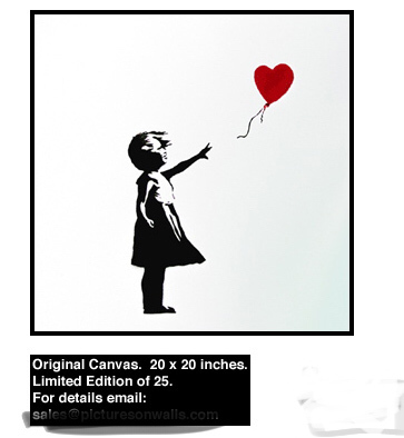 Banksy, 'Girl with Balloon (Original Canvas) Tagged and Signed', 2003, Contemporary Art Trader