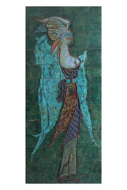 , 'Winged female figure with mask,' ca. 1948, Aria d'Italia