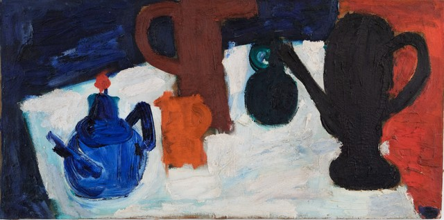 , 'Table-Top Still Life with Coffee and Tea Pots and Three Pitchers,' 1912-1916, Andrea S. Keogh Art and Design