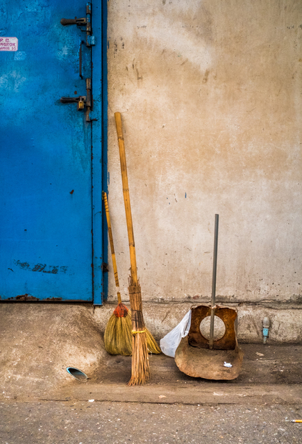 , 'Broom, Dust Pan, Blue Door, Bangkok,' , Soho Photo Gallery