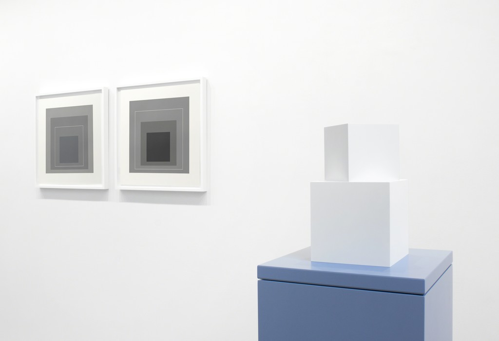 From left to right Josef Albers and Sol LeWitt.
