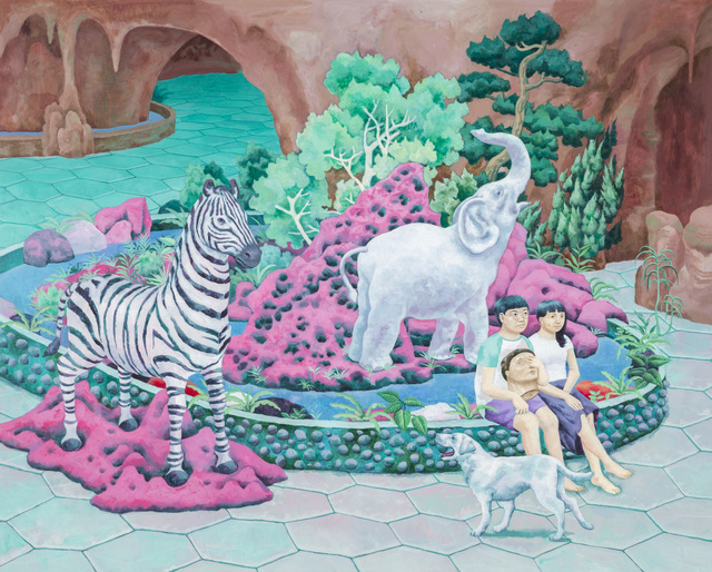 , 'One who likes Zebra statues,' 2016, Yiri Arts