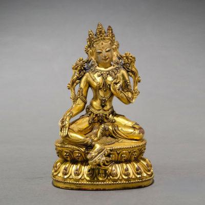 , 'Sino-Tibetan Gilt-Bronze Tara Bodhisattva,' 1800-1900, Barakat Gallery