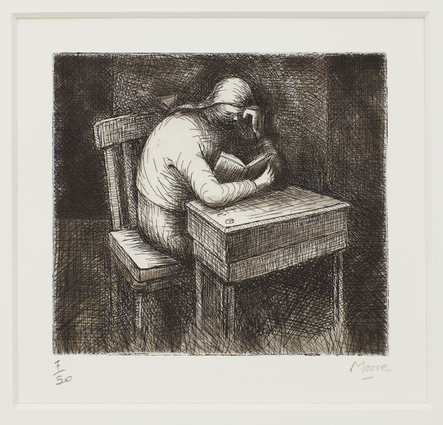 Henry Moore, 'Girl Doing Homework V', 1974, Print, Etching and aquatint, Marlborough