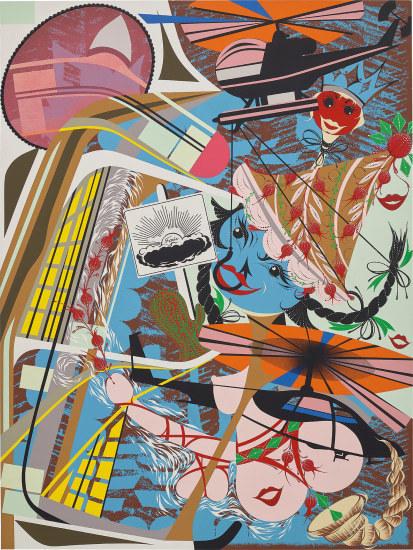 Lari Pittman, 'Like you, expansive but capable of pining away', 1995, BFAMI Benefit Auction