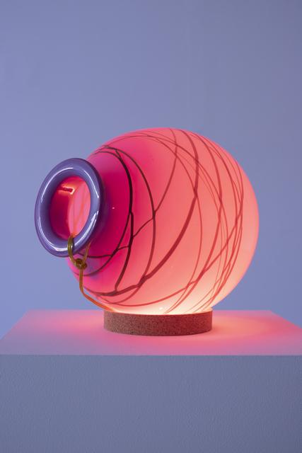 Elias Hansen, 'Light Sculpture', 2019, Sculpture, Glass, wiring, cork, LED bulb, Halsey McKay Gallery