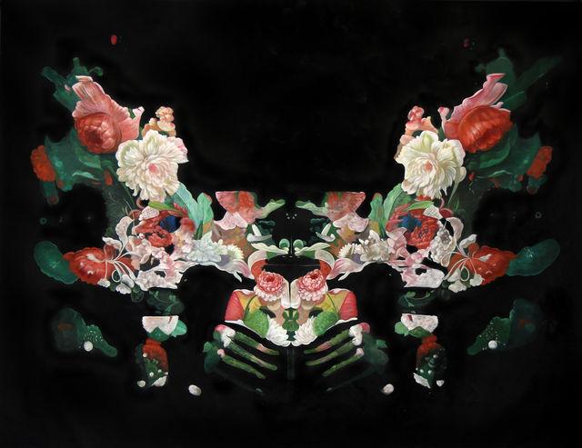 ", '""Rorschach Flower Test 1"",' ca. 2017, Parlor Gallery"