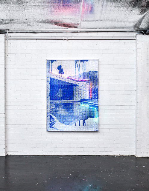 Tom Adair, 'Poolside', 2019, Mixed Media, Neon, acrylic and panel, Axiom Contemporary