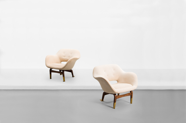 ", 'Pair of armchairs , model ""Marski"",' 1957, Side Gallery"