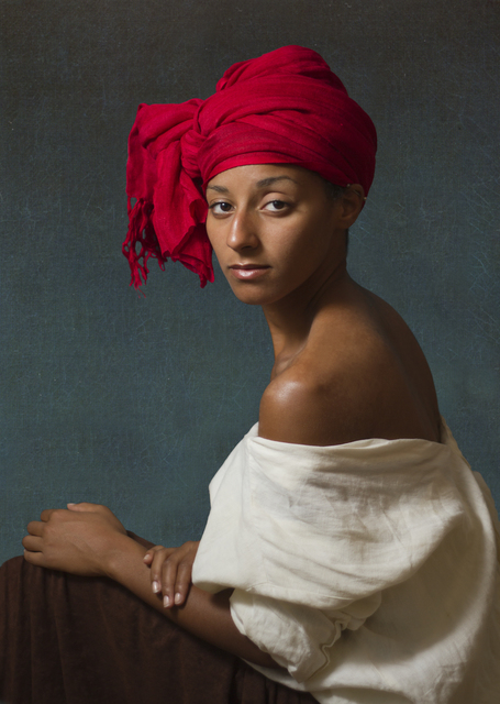 , 'Ode to Aman's Creole with a Red Headdress,' 2012, Jonathan Ferrara Gallery