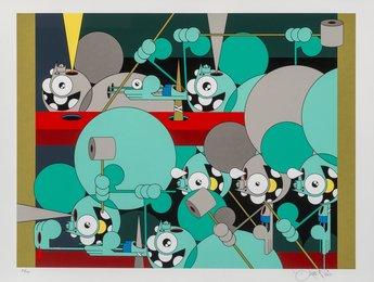 Untitled (Blue Space Monkeys)
