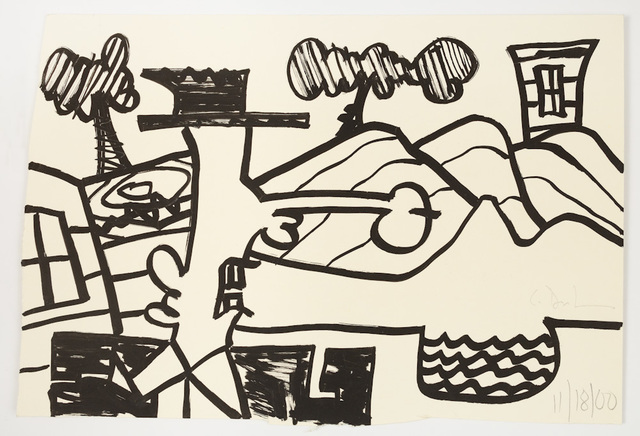 Carroll Dunham, 'Untitled (11/18/00)', 2000, McClain Gallery
