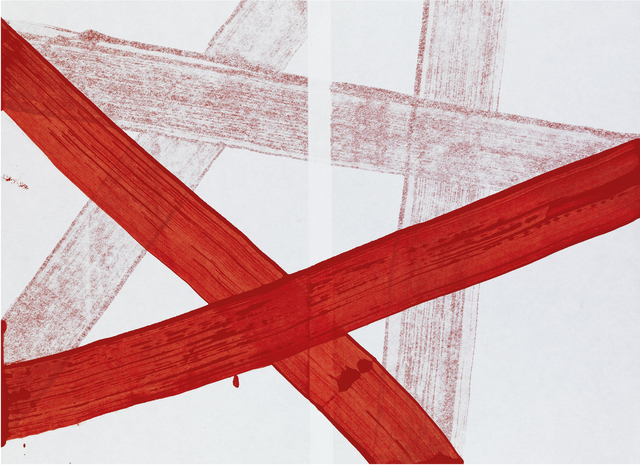 Hadas Hassid, 'Untitled (Paper Wrapped by Red Line)', IAILA