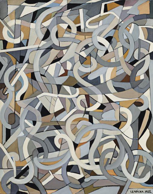 , 'Composition abstraite aux tourbillons,' 1955, David Benrimon Fine Art