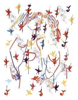 Ghada Amer, 'Superman and the Birds', 2002, Lower East Side Printshop