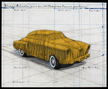 , 'Wrapped Automobile (Project for 1950 Studebaker Champion, Series 9 G Coupe),' 2015, Diane Villani Editions