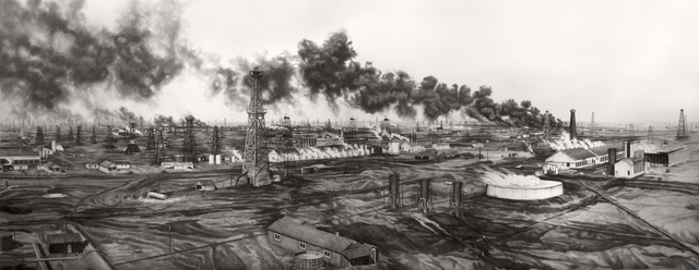 , 'Tonkawa Oil Fields From The Top Of Derrick Galine 14-A,' 2017, Booth Gallery