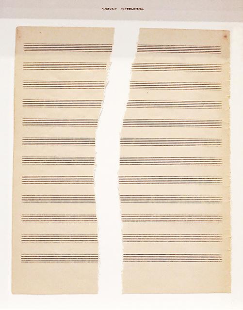 """, 'Silencio Interrumpido, from """"Silencios viejos"""" series,' 2012, Galeria Senda"""