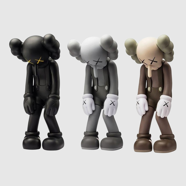 KAWS, 'Small Lie (set of 3)', 2017, Sculpture, Painted Cast Vinyl, Lougher Contemporary Gallery Auction