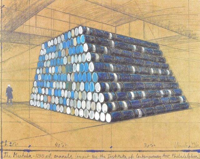 Christo, 'The Mastaba, 1240 Oil Barrels', 1990-2000, ARTEDIO