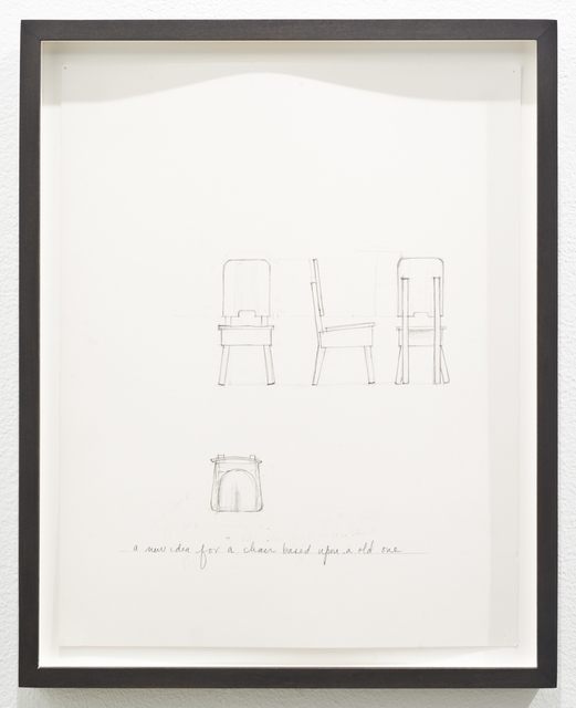 , 'Untitled (a new idea for a chair based upon an old one),' 2012, Lora Reynolds Gallery