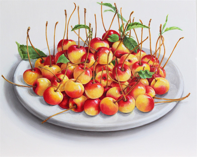 Elizabeth Johansson, 'Plate of Cherries', 2013, Painting, Oil on panel, Clark Gallery